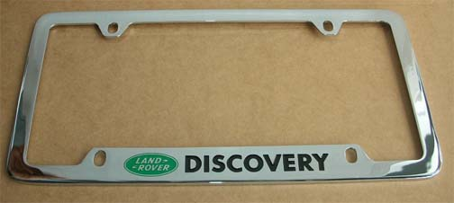 rclpfrrb license plate frame black stainless steel range rover shown with protective film to be remove when in use