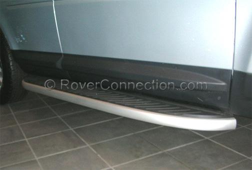 Deployed Side Steps For Range Rover Genuine Accessory: Land Rover LR2 Side Steps Running Boards